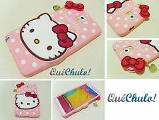 FUNDA CARCASA SILICONA PARA SAMSUNG GALAXY NOTE 3 N9000 HELLO KITTY  ROSA P+FILM