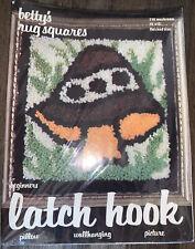 Vintage Betty's Rug Squares Latch Hook Kit 12x12 Mushroom 1978, #710 Unused