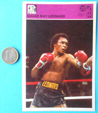 SUGAR RAY LEONARD boxing - vintage sports trading card * VERY LARGE SIZE