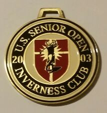 U.S. Senior Open 2003 INVERNESS CLUB collectible Golf bag Badge thick metal PGA