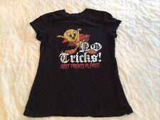 Tweety Bird Halloween Looney Tunes T-shirt Size M No Tricks Just Treats Please