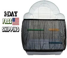 New listing Gagiland Bird Cage Seed Catcher Mesh Birdcage Cover Seeds Guard Netting Parrot C