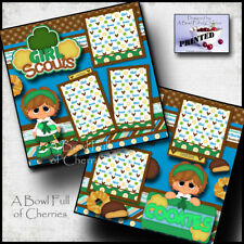 Girl Scout Cookies 2 premade scrapbook pages paper printed layout by cherry
