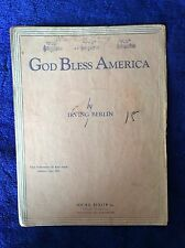 God Bless America, Irving Berlin, 1939 sheet music, piano/voice