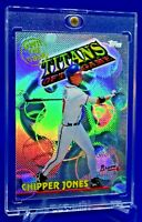 CHIPPER JONES TITANS OF THE GAME RAINBOW REFRACTOR RARE SP ATLANTA BRAVES LEGEND