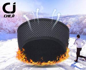 CHEJI Winter Cycling Headband Thermal Fleece Bicycle Headband Ear Warmers Black