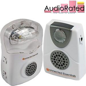 Loud Phone Ringer Amplifier Audible Visual Telephone Call Alert Flashing Light