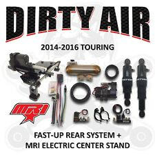 DIRTY AIR Harley Rear Air Suspension FAST-UP + MRI Electric Center Stand '14-'16