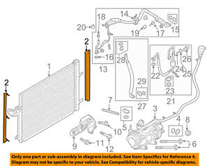 FORD OEM C-Max A/C AC Condenser/Compressor/Line-Condenser Side Seal FV6Z19E572A