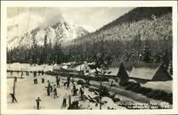 Snoqualmie Pass WA Skiing Ellis Real Photo Postcard