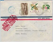 COLOMBIA -  POSTAL HISTORY -  COVER to ITALY - 1962 - Flowers ORCHIDS
