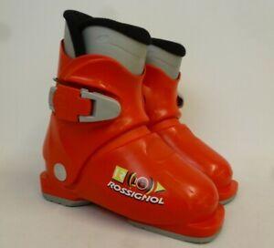 Rossignol Kids Red Ski Boots Size 18.5 UK Size 11 Juniors