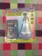 LED Multicolor Lampe Farbwechsel Leuchte RGB 4W E27 16 Farben + Fernbedienung