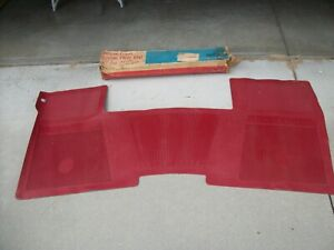 1967 Chevrolet Impala SS Caprice OEM RARE NOS Front Red Full Floor Mat GM 986979