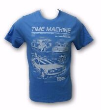 Time Machine Back to the Future Light Blue Color Men's T-Shirt Size Small