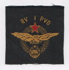 YUGOSLAVIA Peoples Army JNA -  RV i PVO 1942 - AIR DEFENSE  embroidered patch