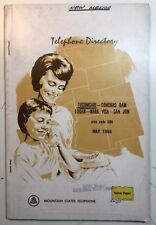 Vintage Telephone Directory Tucumcari & Logan New Mexico 1965 Phone Book