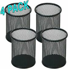 4 Pack Black Pen Holder Mesh Pencil Holder for Desk Office Pen Organizer