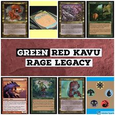mtg Green Red Kavu Rage Legacy deck Magic the Gathering rares Raging Radiant