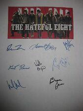 Hateful Eight Signed Film Script X8 Tarantino Jackson Russell Leigh Roth reprint