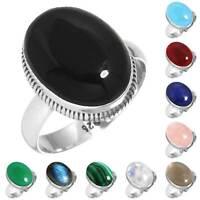 925 Sterling Silver Gemstone Ring Women Jewelry Size 5 6 7 8 9 10 11 12 13 rN196
