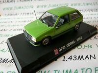 AP34N Voiture 1/43 IXO AUTO PLUS : OPEL corsa A 1982 verte