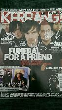 Funeral for a Friend Signed Kerrang Magazine May 2005