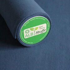 Bio-Bündchen Atlantik Blau Baumwolle Biostoff Schlauchware Albstoffe