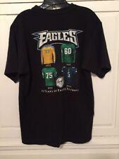 "PHILADELPHIA EAGLES Shirt ""75 Years of Eagles Football"" NFL SS Size Medium"