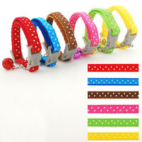 Nylon Cute Print Puppy Cat Kitten Dog Collars with Bell for Small Dogs Chihuahua