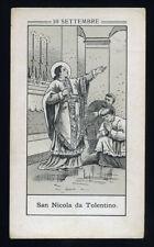 antico santino litografico- holy card S.NICOLA DA TOLENTINO