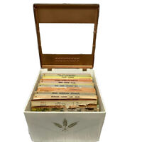 Vintage 1958 COOKINDEX Recipe Box With Cards And Original Litho Insert