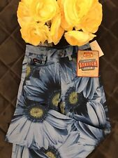 Girls Route 66 Blue Stretch Denim  Flower Design size 10 New with Tags. Too cute