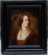Jeune Femme à la Coiffe, 1780, Superbe Ecole Flamande Fin XVIIIème Siècle!!