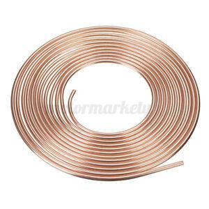 "25 feet Roll Soft Copper Brake Pipe Line Fuel Hose Line Tubing 5/16"" 8.0mm"