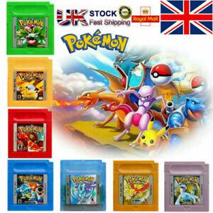 NEW GBC Pokemon Game Card Carts GameBoy For Nintendo Color Version Cartridge UK