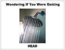 "Jail Prison Inmate Postcard ""Shower Head"""
