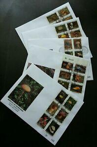 [SJ] Honduras Mushrooms 1995 (complete set FDC) *rare