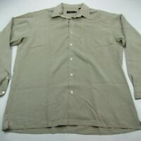 Bugatchi Uomo Mens Button Front Casual Shirt Men's Checks XL Dress Shirt