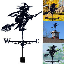 More details for witch weather vane iron wind vane wind speed spinner vane garden yard decor uk