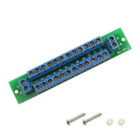 1X Power Distribution Board 2 Inputs 2 x 13 Outputs for DC AC Voltage PCB007