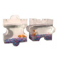 Wall Mount Fish Bubble Aquarium Bowl Tank Puzzle Jigsaw Combination Betta Mini