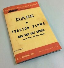 J I CASE TRACTOR PLOWS CHA CHT SERIES 3 4 5 BOTTOM OPERATORS INSTRUCTION MANUAL
