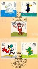 BRD 1999: dibujos animados personajes! juventud nº 2055-2059! bonner sonderstempeln! 1a 1510