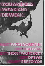 MOTIVATIONAL ROCK CLIMBING POSTER - BOULDERING QUOTE MOTIVATION PHOTO PRINT GIFT