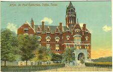 Dallas TX St. Paul Sanitarium Outer Grounds 1913 Vintage Postcard