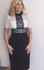 BNWT ZARA Black & White Tube Dress Lace Top Size XS UK 6-8 Wedding Occasion