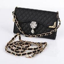 Luxury Bling Diamond PU Leather Flip Wallet Card Holder Handbag Case Cover