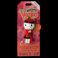 Watchover Voodoo Doll 'Always Be Lucky' Car Rear View Mirror Hanger or Keyring