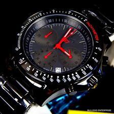 Invicta S1 Rally Overdrive Ceramic Superluminova Black Red Chronograph Watch New